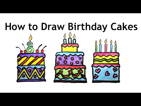 How To Draw Birthday Cakes