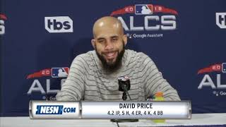 David Price ALCS Game 2 Red Sox vs. Astros Postgame Press Conference