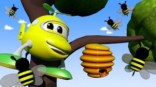 Kinder-Auto-Cartoon - der PICK-UP-TRUCK ist an einem Baum hängen geblieben! - Auto-Stadt ! LKW Cartoon für Kinder