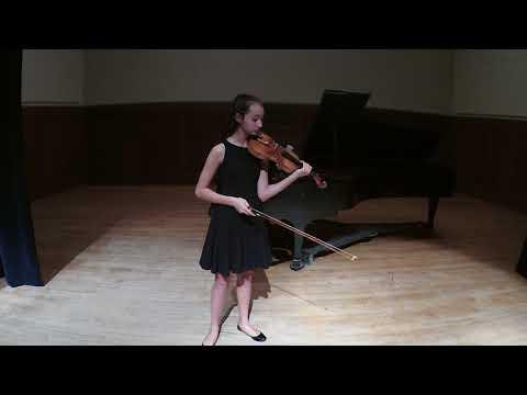 Maya Kilburn, violin, age 14, Glazunov Violin Concerto in A minor, Op.82