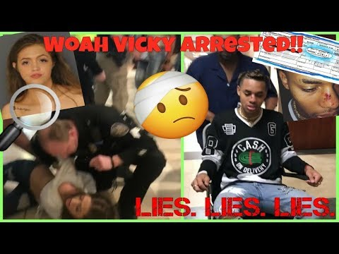 Woah Vicky GETS ARRESTED  & Papii__jj Lies About His Arrest?