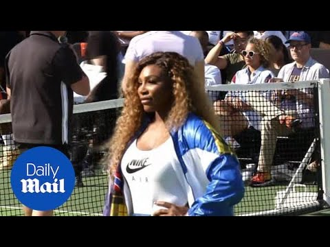 Serena Williams Plays A Round Of Tennis At U.S. Open In NY