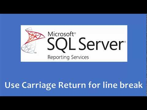 SSRS Carriage Return for Line Break in Reports - YouTube