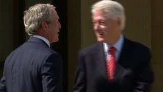 Clinton pokes fun at Bush