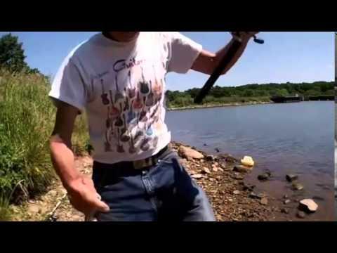 Bank fishing glenwood lake medina ny youtube for Medina lake fishing