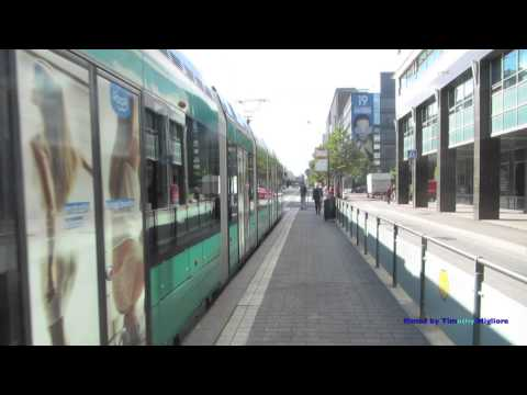Trams in Helsinki, Finland in HD 1080