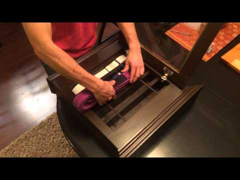How to put belts in stunning woodwork's BJJ Belt Display Case