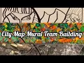 City Map Mural Team Building