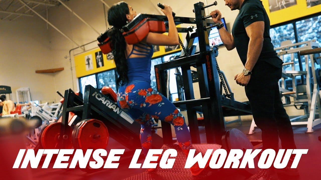 INTENSE IFBB Bikini Pro Leg Day Training   Ashley Kaltwasser