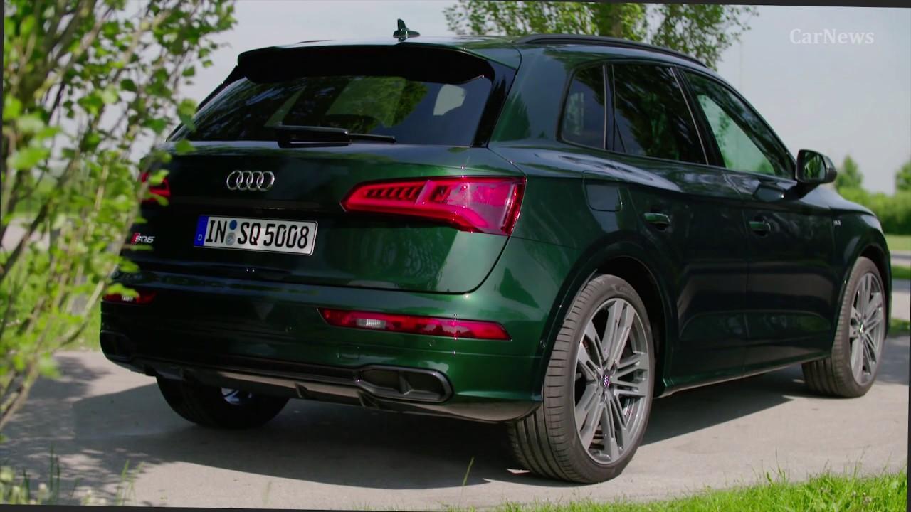 Azores Green Audi SQ5 (2018) Driving, Exterior, Interior ...