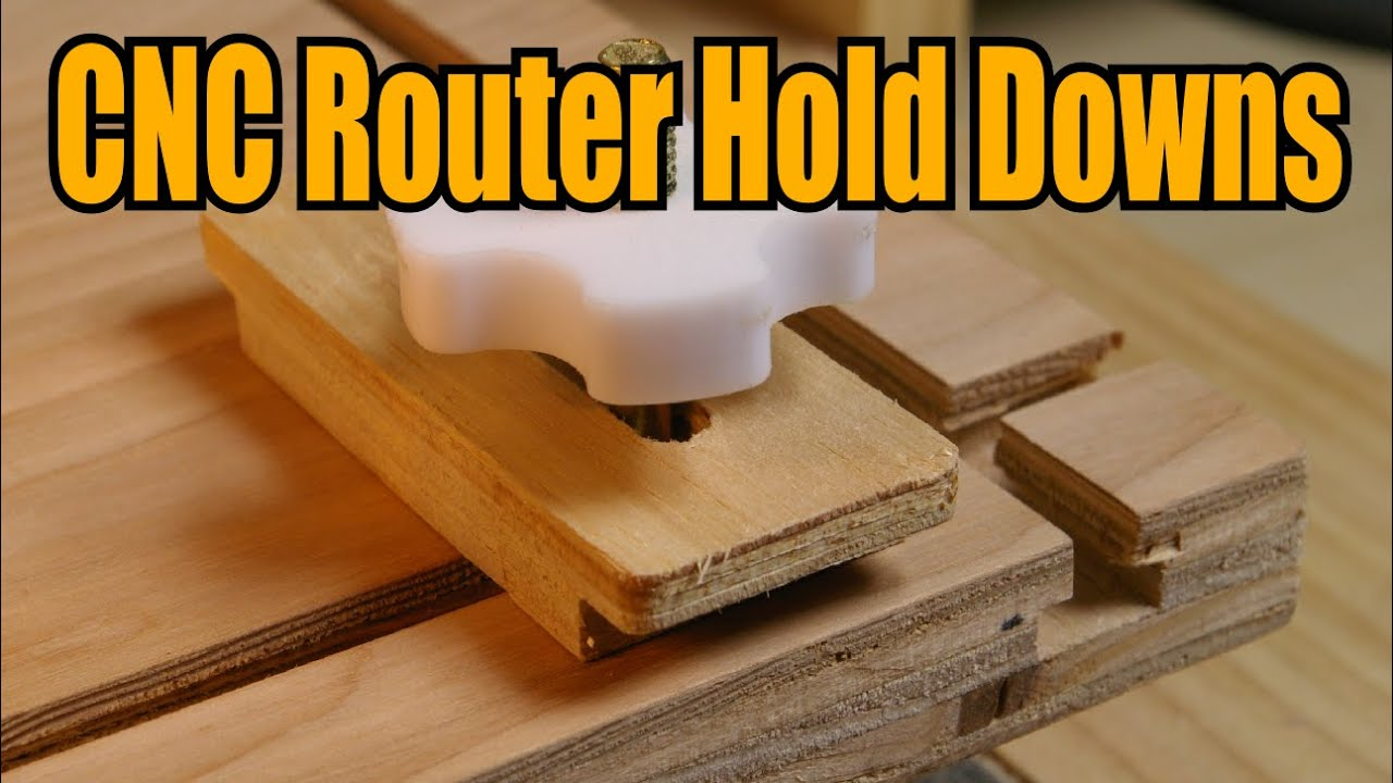 Homemade Cnc Router Hold Downs Youtube