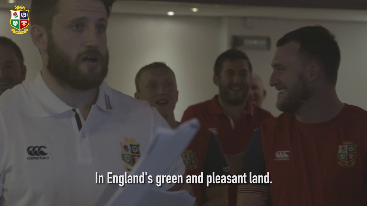 The Lions squad sing Jerusalem! | Sing Your Support | Lions NZ 2017