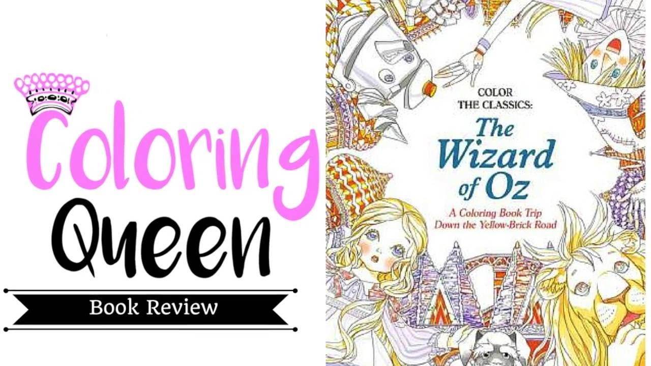 the wizard of oz coloring book review youtube