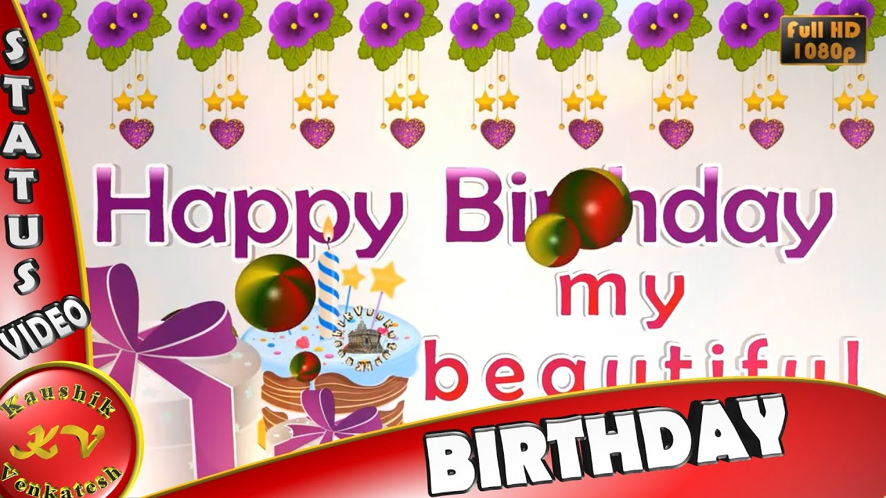 Amazing Happy Birthday Wishes,Whatsapp Video,Greetings,Animation,Sister Quotes