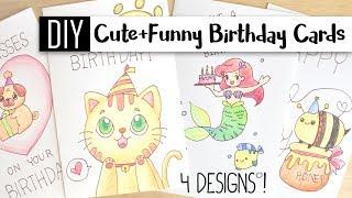 DIY Cute & Funny Birthday Cards – 4 Puns / Doodle Card Ideas!