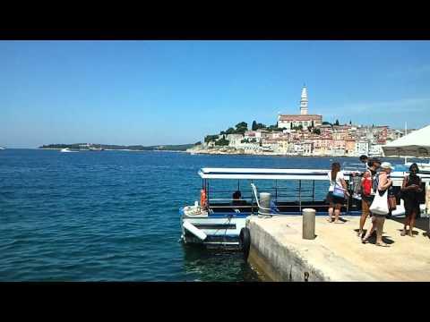 Rovinj old town from St Katarina island
