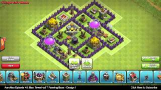 BEST Town Hall Level 7 (TH7) Farming Base Defense Strategy - Design 1 (Clash Of Clans)