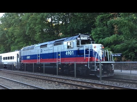 NJ Transit & Metro-North HD 60fps: Evening Rush Hour Diesel Railfanning Action @ Ho-Ho-Kus (8/8/16)