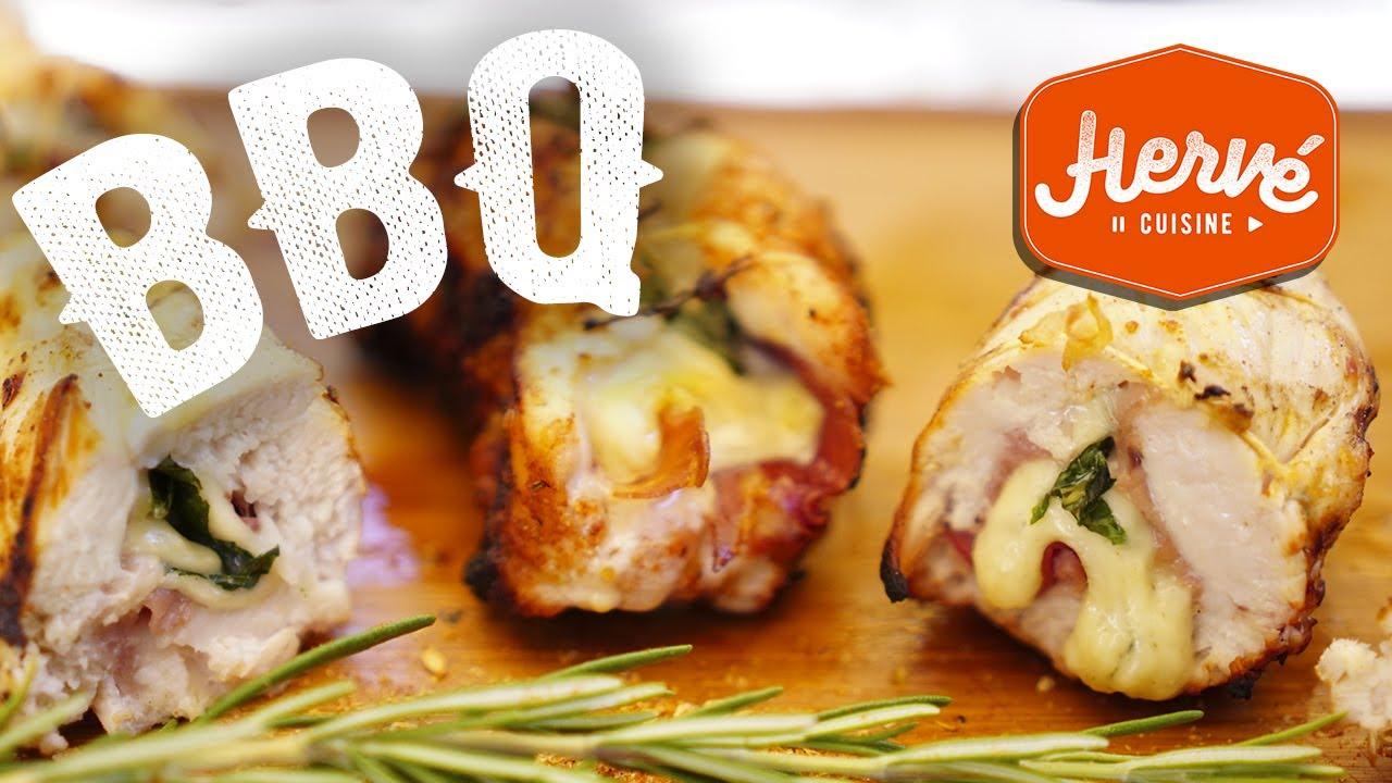Recette du poulet garni au barbecue dessert au bbq youtube - Recette queue de langouste grillee au barbecue ...