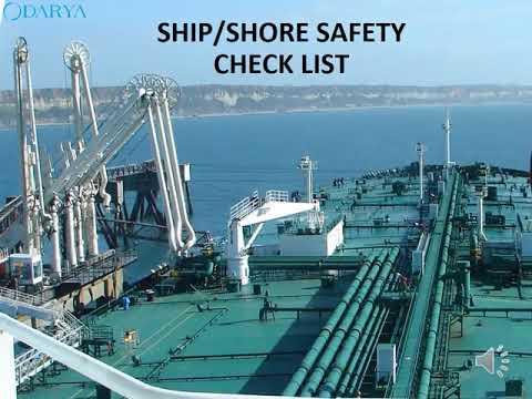 ship shore safety checklist video