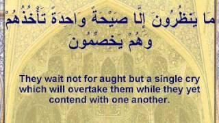 Surah Yasin full english subtitles سعد الغامدي - سورة يس
