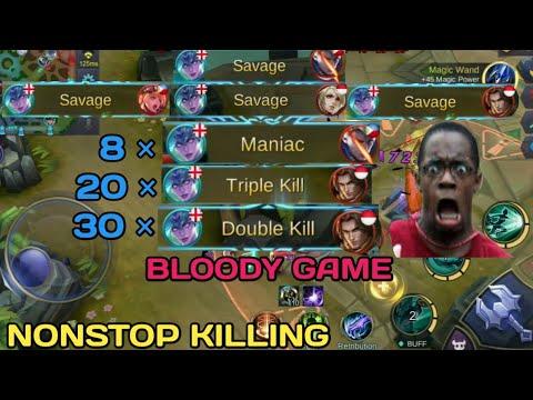 4 SAVAGE   BLOODY GAME   NONSTOP KILLING   MOBILE LEGENDS   MOBILE LEGENDS BANG BANG