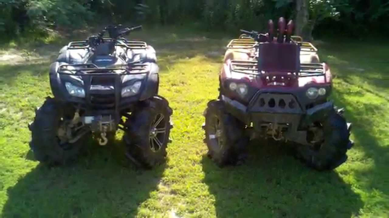 Rancher 420 And Brute Force 750 On 30 Quot Silverbacks