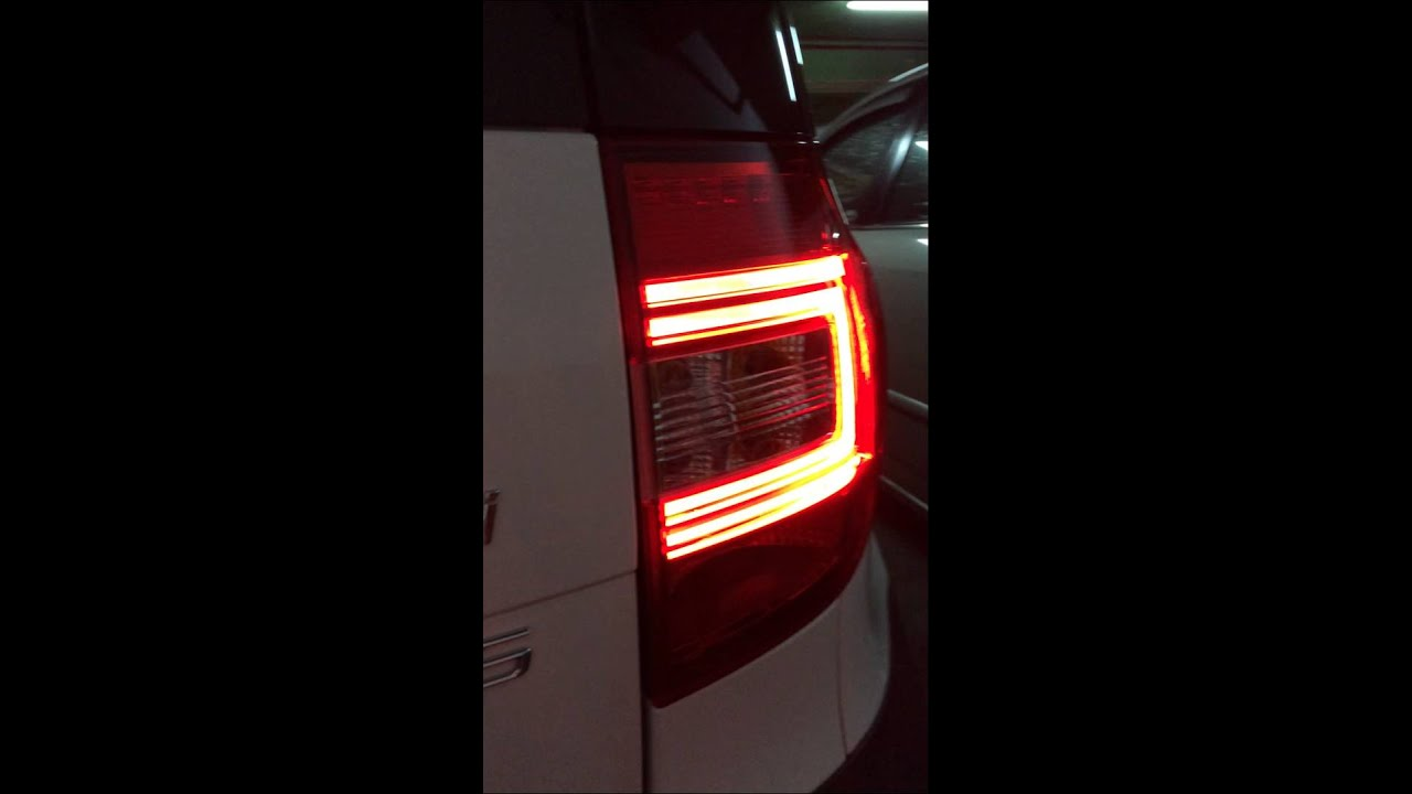 2014 super c led tail light skoda yeti youtube