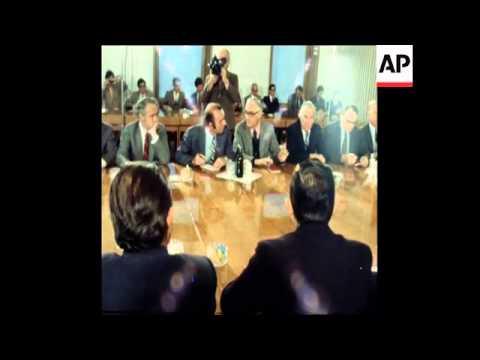 SYND 15 11 78 US SENATE DELEGATION WELCOMED IN IN CAPITAL OF BELARUS