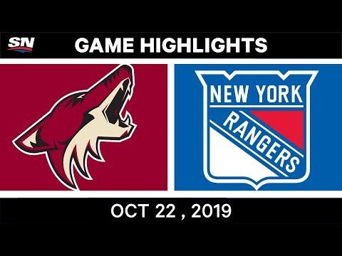NHL Highlights | Coyotes Vs Rangers – Oct 22, 2019