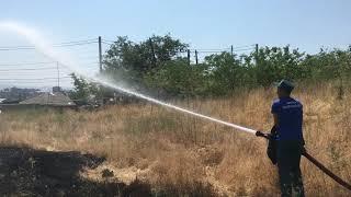 Երևանում ԱԻՆ-ն իրականացրել է չոր խոտածածկի հսկող այրում