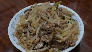 香港食譜 : 肉絲炒銀針粉
