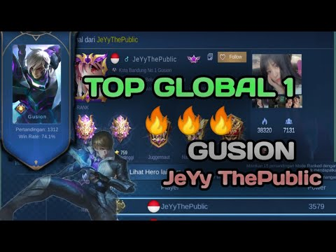Download #9. TOP GLOBAL 1 GUSION (JeYy ThePublic) | ZEK AI•