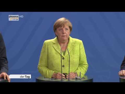 Angela Merkel und Filippo Grandi zur Flüchtlingssituation im Mittelmeer am 11.08.17