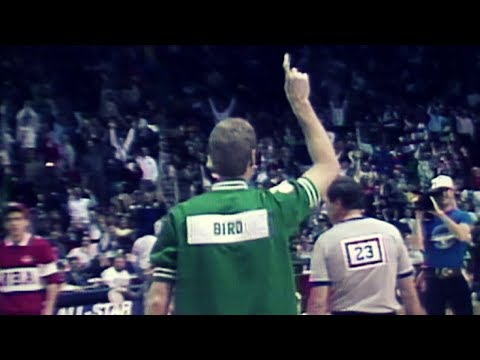 Larry Bird Wins 1988 3-Point Shootout in Warm-Up Jacket