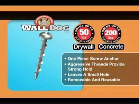 Hillman Wall Dog Anchors Youtube