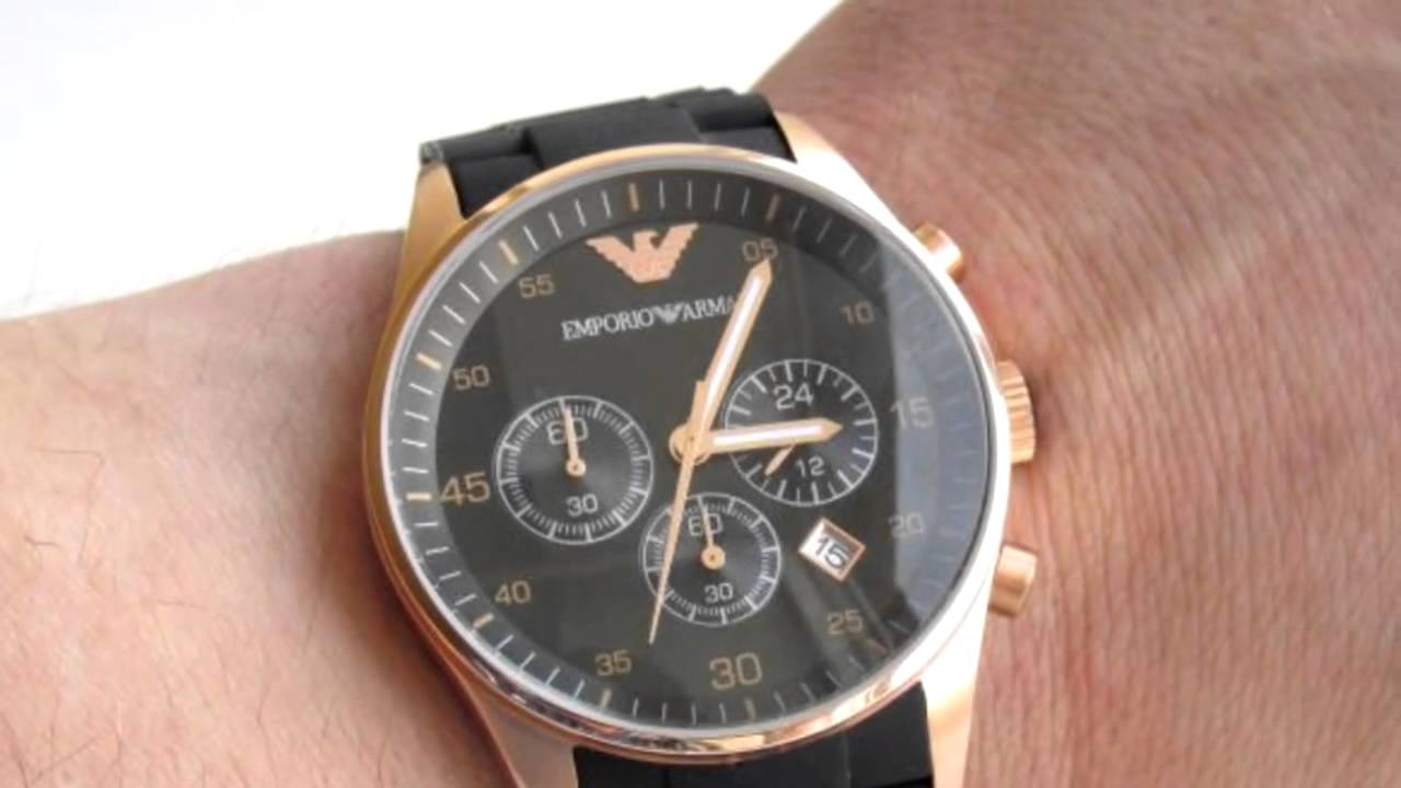 часы Emporio Armani AR5905 - YouTube