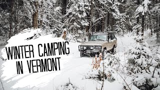 WINTER CAMPING in Verṁont • Hiking the Long Trail + Favorite VT Beers + Sleeping in the LAND CRUISER
