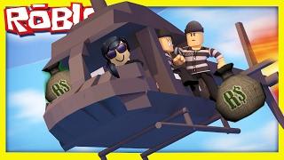 ПОБЕГ ИЗ ТЮРЬМЫ в ROBLOX Нас  не поймала ПОЛИЦИЯ  мы ОГРАБИЛИ БАНК видео для детей как у FFGTV 3 час