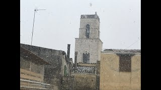 Corato. Primi fiocchi di neve in città e al Castello