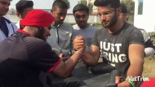 Inter college Arm wrestling at AIAP college, Delhi !!