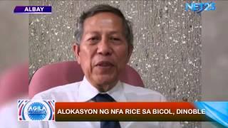 Agila Probinsya - Alokasyon ng NFA rice sa Bicol region, dinoble
