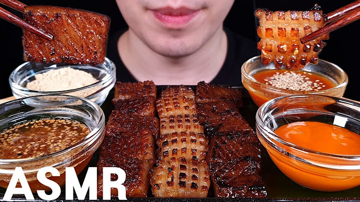 ASMR 돼지껍데기 먹방 PORK SKIN MUKBANG EATING SOUNDS