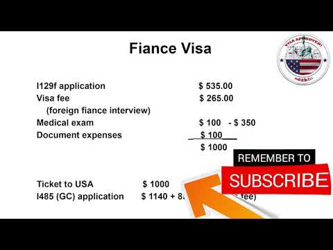 How much does the fiance visa cost 2019