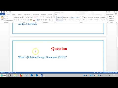 Blue Prism RPA - Interview Questions - What is SDD - 4011 - Aditya