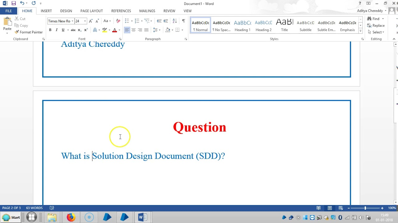 Blue Prism RPA - Interview Questions - What is SDD - 4011 - Aditya RPA  Academy BTM Layout