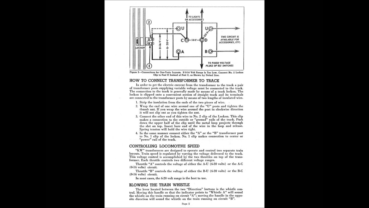 lionel kw transformer manual how to operate a lionel kw transformer youtube [ 1280 x 720 Pixel ]