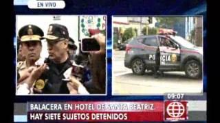Sujeto drogado protagonizó balacera en hostal de Santa Beatriz, en Lima