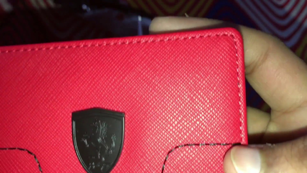 54832b6664 Puma Ferrari LS Wallet (Red) - YouTube