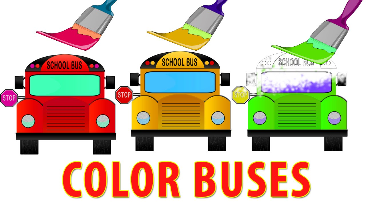 School bus color. Animation for kids and